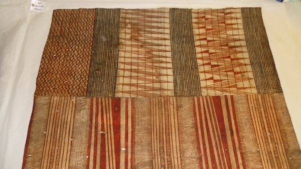 Colour photograph of a Hawaiian painted cloth from The Hunterian collection, reference GLAHM E.667. (copyright University of Glasgow)