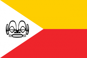 Flag of the Marquesas Islands (credit: Sémhur via Wikimedia Commons, available in the public domain)