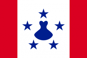 Flag of the Austral Islands (credit: Guilherme Paula via Wikimedia Commons, available in the public domain)