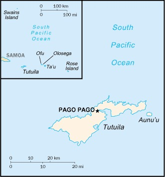 Outline map of American Samoa (credit: The World Factbook 2020. Washington, DC: Central Intelligence Agency, 2020)