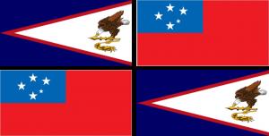 Combined flags of Samoa and American Samoa