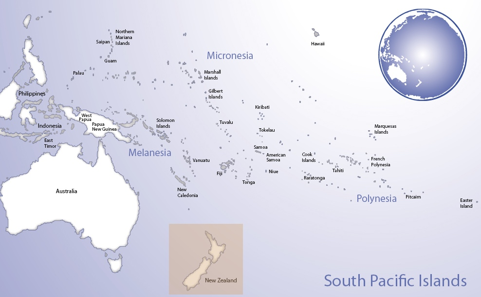 Map of Oceania highlighting the location of Aotearoa New Zealand (© Pacific Peoples' Partnership; edited to add location overlay)