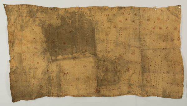Colour photograph of a large, stamp-decorated Tahitian ahufara cloak from The Hunterian collection, reference GLAHM E.595/1 (copyright The University of Glasgow)